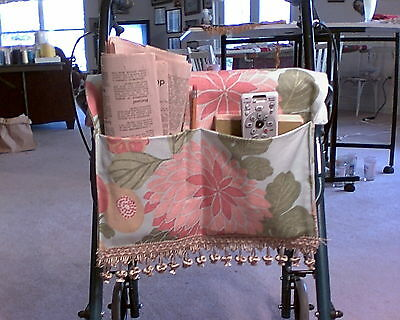 Handmade Disability Tote Bag Foe Walkers, With 4 Pockets And 2 Pencil Holders