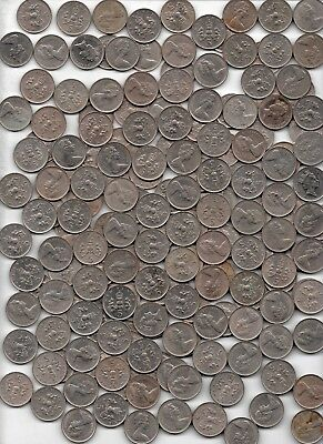 Great Britain UK 5 Five New Pence 1960s 1970s Lot of 181