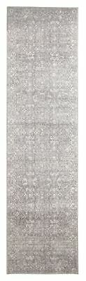 Grey Hallway Runner Hall Rug Traditional Persian Design 4 Meters Floor Rug