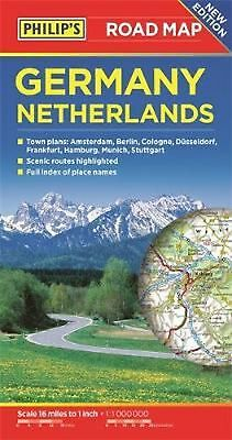 Philip's Germany and Netherlands Road Map by Philips Free Shipping!