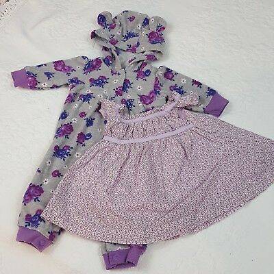 BABY GIRL NB to 0-3 Months Mixed Clothing Lot, Gently Used (12 PIECES)