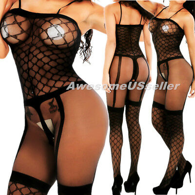 Women Lingerie Body Stocking Bodystocking Valentine Day Gift for Her I Love You