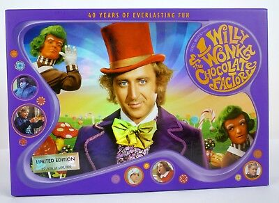 Willy Wonka and the Chocolate Factory 3-Disc Blu-ray DVD Set 40th Anniversary