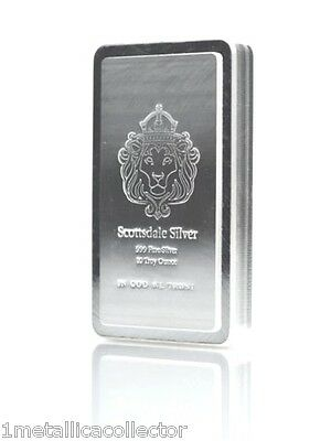 10 oz Scottsdale STACKER BAR .999 Silver Bar B.U. **FREE SHIPPING W/TRACKING#**