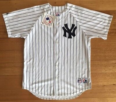 New York Yankees Majestic MLB Replica Baseball Jersey - White *New with Tags* L
