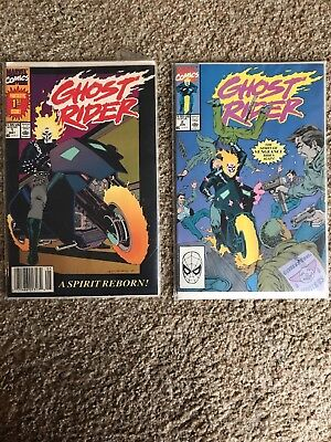 GHOST RIDER Vol. 2 #1 and # 2 1990-VF comic books-Marvel