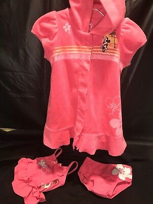 a362c579cd DISNEY STORE MINNIE Mouse Baby Swimsuit & Cover Up Set 3 6 9 12 18 ...