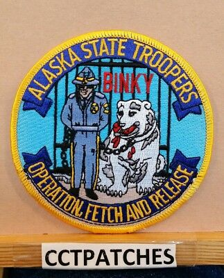 Alaska State Troopers Operation Fetch And Release Binky Police Shoulder Patch Ak
