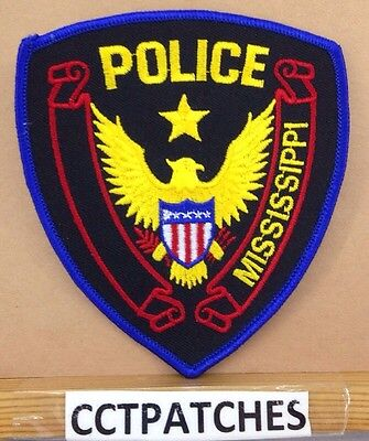 Mississippi Police Stock Eagle Shoulder Patch Ms