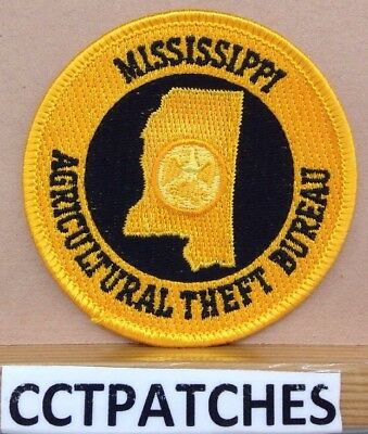 Mississippi Agricultural Theft Bureau (Police) Shoulder Patch Ms