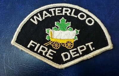 Waterloo, Canada Fire Department (White) Patch