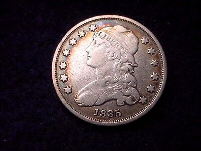 1835 Capped Bust Quarter Very Fine Reduced Size Quarter!   #44