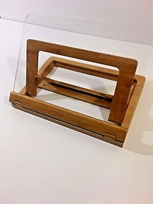 Core Wood Cookbook Easel with Clear Plastic Protective Cover