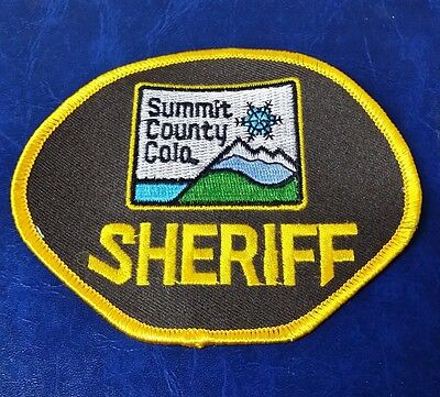 Summit County, Colorado Sheriff Police Shoulder Patch Co 2