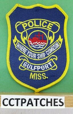 Gulfport, Mississippi Police Shoulder Patch Ms