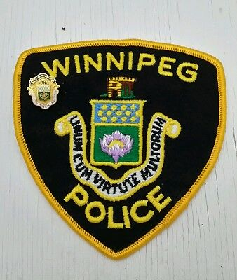Winnipeg, Canada Police Shoulder Patch With Hat Pin
