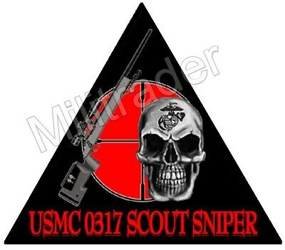 United States Marine Corps (USMC) 0317 Scout Sniper Decal