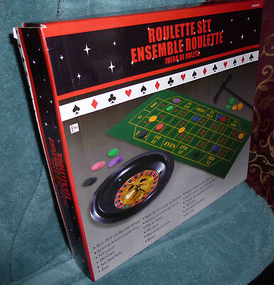 10-Inch Roulette Wheel Casino Game Table Set with Accessories, New