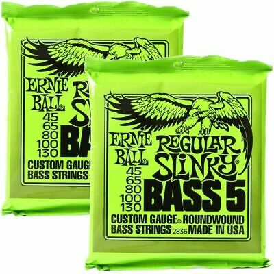 2 sets Ernie Ball 2836 Regular Slinky 5-String Nickel Wound  Bass Strings 45-130
