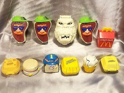 Vintage Lot of 10 McDonald's Changeables McRobots & 1 Mighty Max Happy Meal Toy