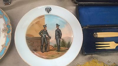 Antique Imperial Russian Porcelain Plate of Nicholas - II. Russia 19th Century