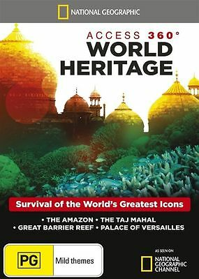 National Geographic: Access 360 Degrees World Heritage (DVD) NEW/SEALED Amazon