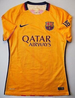 5/5 Size M Barcelona 2015~2016 Authentic Player Issue Away Shirt Original Soccer