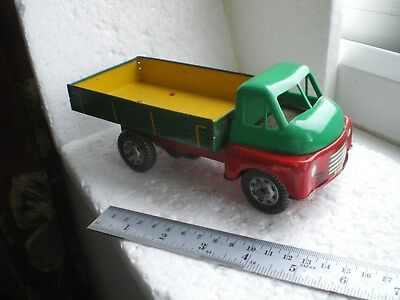Vintage Clockwork Tin Plate Tipper Lorry With Big Bedford Cab By Wells Brimtoy