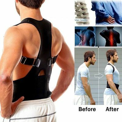 1 Magnetic Multi Black Back Shoulder Posture Corrector Brace Belt, Birthday Gift
