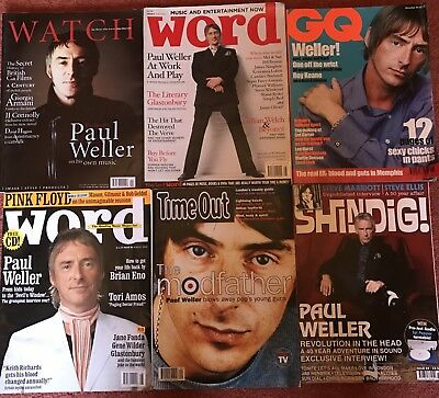 PAUL WELLER - Rare Magazine Collection - Shindig, GQ, Word, Watch - Mod Jam