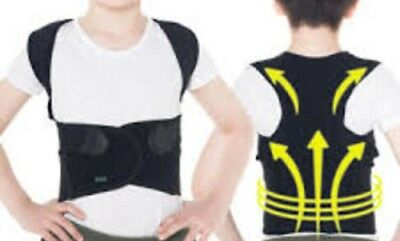 S M L XL Back Shoulder Magnets Posture Corrector Brace Black warm comfortable