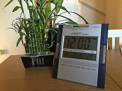 Big Display Wall Desk Clock with Date Timer Temperature Alarm, HouseWarm Gift