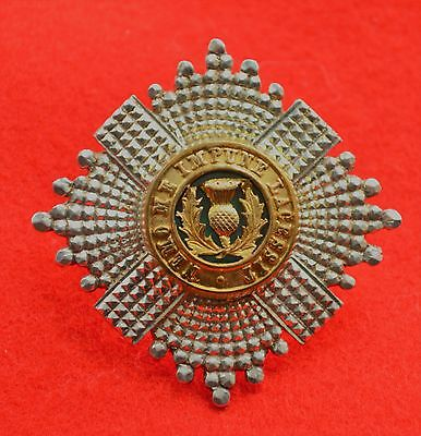British Army. Scots Guards Genuine Silver Officer's Forage Cap Badge