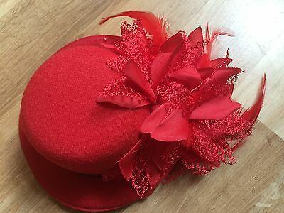 On Sale! Birthday Hen Party Fun Gift! FASCINATOR WOOL ONE SIZE HAT! & Hair Clip