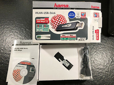 Hama WLAN Adapter Dongle 300 Mbps MIMO USB Smart TV ersetzt Samsung WIS09ABGN