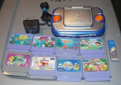 Vtech VSmile Cyber Pocket with 8 Games + AC Adapter