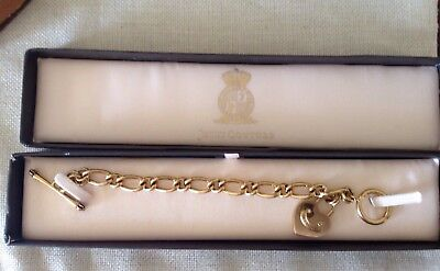 Authentic Juicy Couture Gold Tone Chunky Starter Charm Bracelet In Box