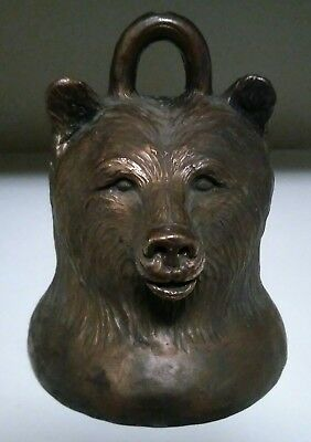 Carl Wagner Bronze Large Bear Head Bell w/ Claw Ringer artist signed # 10/1000