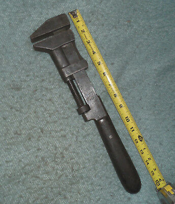 "Antique HD.Smith Perfect Handle 16"" Adjustable Monkey Wrench Motorcycle Railroad"