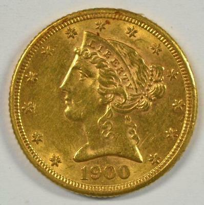 1900-S $5 gold