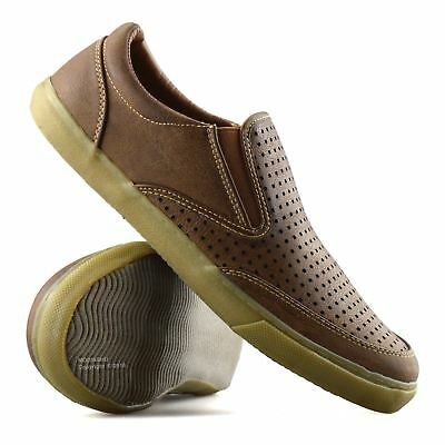 Mens Casual Smart Slip On Walking Moccasin Loafers Driving Deck Boat Shoes Size