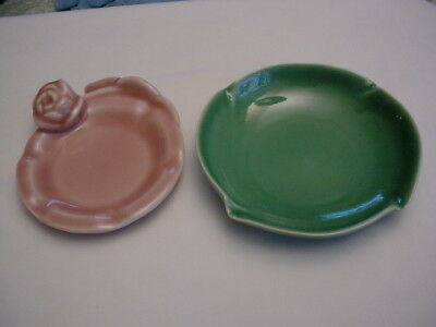 2 Rookwood Pottery Ashtrays / Trinket Dishes 1948 & 1953