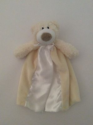 FIRST FRIENDS Babies R Us yellow BEAR PACIFIER HOLDER MINI BLANKET LOVEY plush