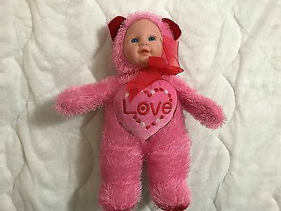 Sugar Loaf Doll In Red Bear Costume W/ Love Heart
