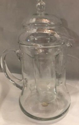 Princess House Heritage Pitcher Etched w/ Ice Insert -Vintage  3 Pieces