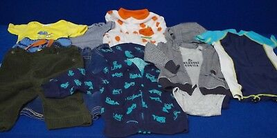 10 Piece Mixed Baby Boy Clothing Lot Sizes 0-6, 3, 3-6, 6-9 & 9 Months Carter's+