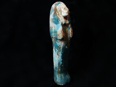 Huge Ancient Egyptian Sekhmet Mummified Painted Statue 1070- 600 B.C 30 CM