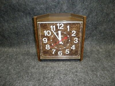 Timex Company Vintage Corner Clock Electric Wall Shelf 60s Works Pre 1969 USA