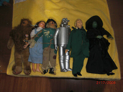 Vintage CIRCA Presents Set of 6 The Wizard of Oz Dolls w Tags Hamilton Gifts