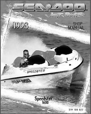 1998 Sea-Doo Speedster 1600 Jet Boat Service Repair Shop Manual CD -- Seadoo